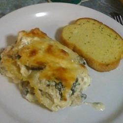 Chicken and Spinach Alfredo Lasagna Recipe