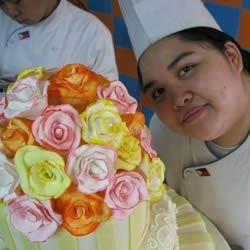 pastillage roses topper