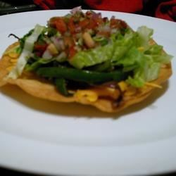 Low Fat Chicken Tostadas Recipe