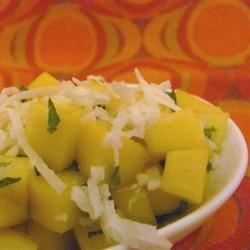 Mint and coconut mango