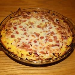 Shredded Potato Quiche