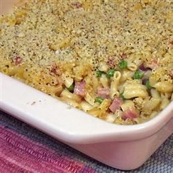 Photo of Macaroni and Cheese with Ham, Peas and Shallots by USA WEEKEND columnist Pam Anderson