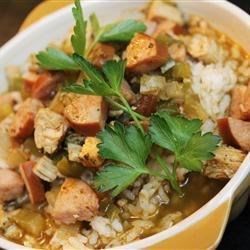 Photo of Diet-Friendly Chicken And Sausage Gumbo by Melissa Goff