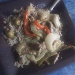 Pepper Steak and Rice Recipe