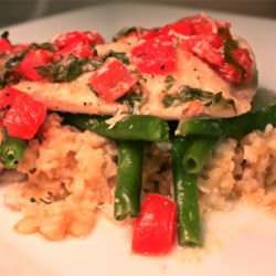 Easy Tilapia with Wine and Tomatoes Recipe