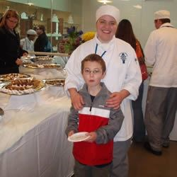 Christian and I at my baking banquet at school