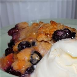 Photo of Huckleberry Peach Cobbler by SBURBANK