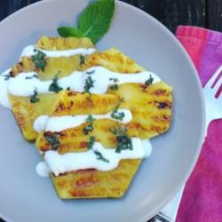 Grilled Pineapple Dessert with Greek Yogurt