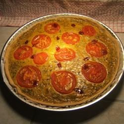 Cheesburger Quiche with Tomatoes