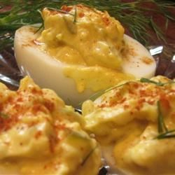 Shrimp and Dill Deviled Eggs Recipe