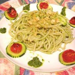 Quinoa Noodles w/Salsa Verde