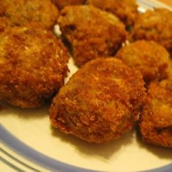 Tasty Fried Eggplant Balls Recipe