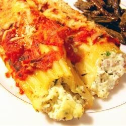 Three Cheese Manicotti Recipe