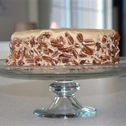 Caramel Cake with Caramel Nut Frosting
