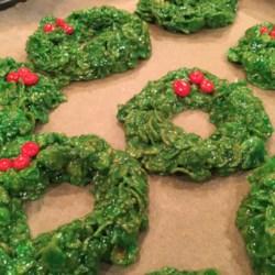 Christmas Cornflake Wreath Cookies Photos Allrecipes Com