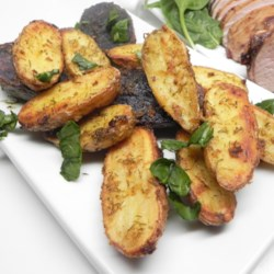 Mustard-Dill Roasted Fingerling Potatoes