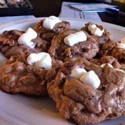 Chocolate Rocky Road Cookies