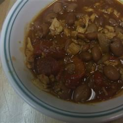 Chili-Flavored Turkey Stew With Hominy and Tomatoes Recipe