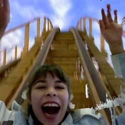 Me  rieding a roller coster
