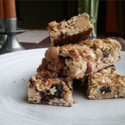 Cranberry Nut Granola Bars Recipe