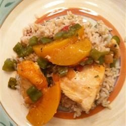 Peachy Chicken Picante Recipe