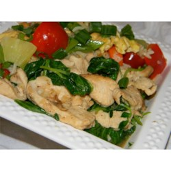 Photo of Pea Shoots and Chicken in Garlic Sauce by AvelaineS