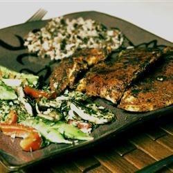 W/ rice and veggies.