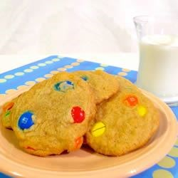 Candy-Coated Milk Chocolate Pieces Cookies II Recipe
