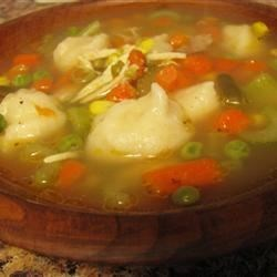 """Hearty chicken soup on a cold, rainy """"sping"""" day..."""