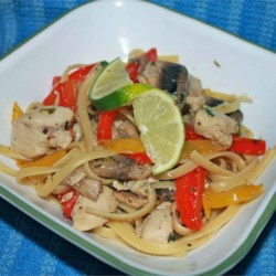 Lime Chicken and Mushroom Pasta Recipe