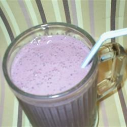 Blackberry milk shake