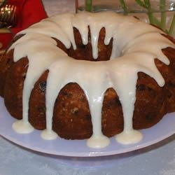 Apricot-Cherry-Almond Bundt