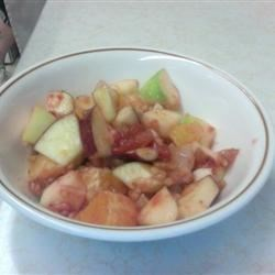 Strawberry-Sauced Crunchy Fruit Salad Recipe