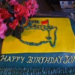 Marshmallow Fondant-Jon's Masters Birthday Cake