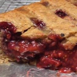 Inside the Raspberry-Fig-Date Crostata
