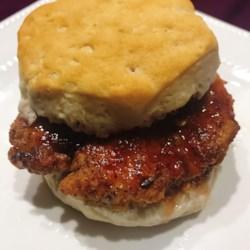 Simple Nashville Hot Chicken Biscuits