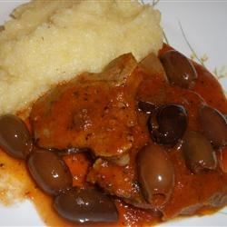 Veal Tongue Stew with Olives