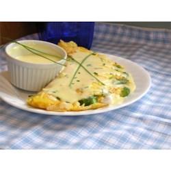 asparagus crab omelets printer friendly