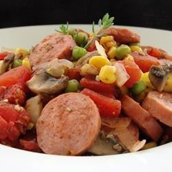 Spicy Sausage Casserole Recipe