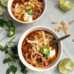 chicken enchilada slow cooker soup printer friendly