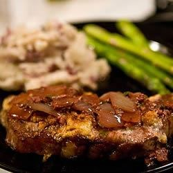 Gorgonzala NY Prime Strip with Merlot Wine Reduction Sauce