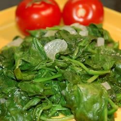 Fast and Easy Spinach with Shallots