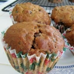 Sugarless Fruit Nut Muffins Recipe