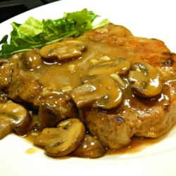 Pork Chops in Garlic Mushroom Sauce