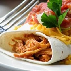 Salsa Chicken Burrito Filling Recipe