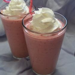 Photo of Quenching Creamy Raspberry Punch by Joyce