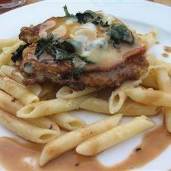 Bolognese style chicken with sage marsala pan sauce
