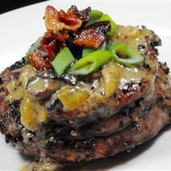 Filet Mignon with Bacon Cream Sauce Recipe