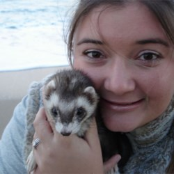 myself and my ferret Bandit