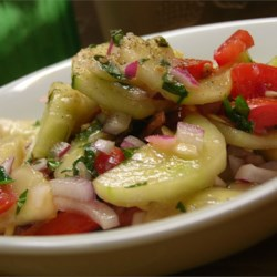 Tomato and Cucumber Salad with Mint